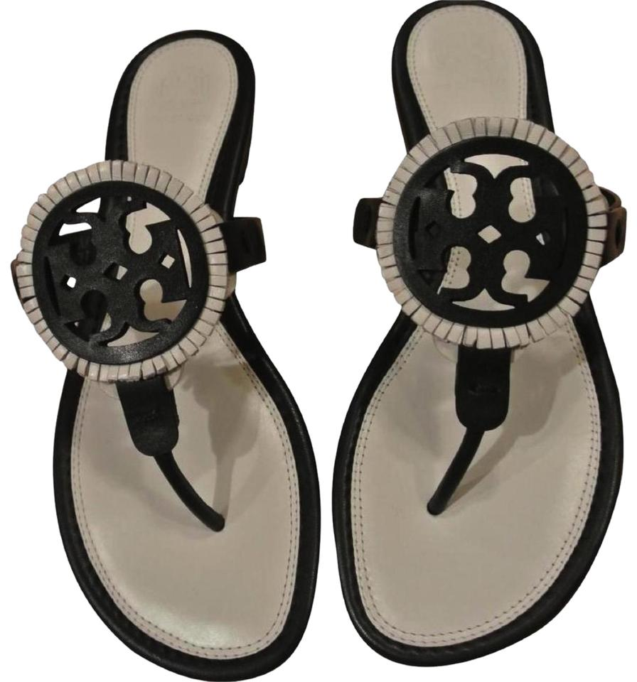 aed320007 Tory Burch White End-of-summer-sale Size-7.5 Black  Bleach  Black ...