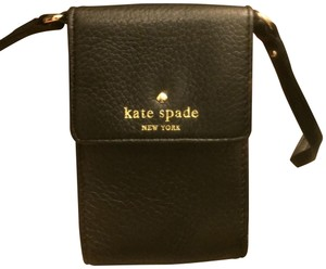 Kate Spade Leather Designer Compact Cross Body Bag