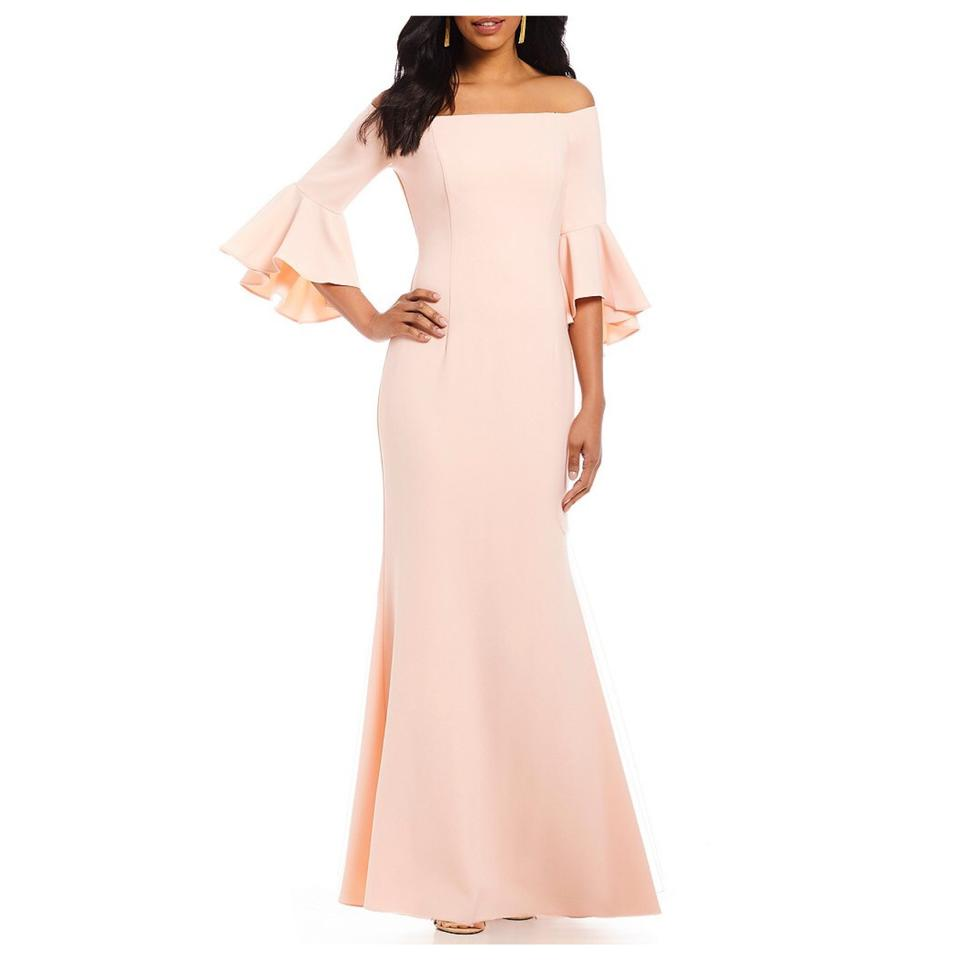 Vince Camuto Pink Bell Sleeve Gown Long Formal Dress Size