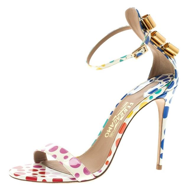 Item - Multicolor Polka Dot Patent Leather Angie Ankle St Sandals Size EU 38 (Approx. US 8) Regular (M, B)