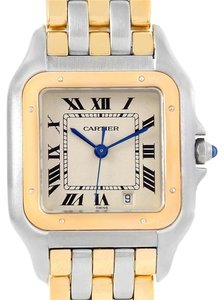 Cartier Cartier Panthere Large Steel 18K Yellow Gold Three Row Watch W25028B6