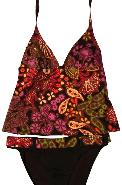 Item - Brown and Floral Vs Tankini Size 12 (L)