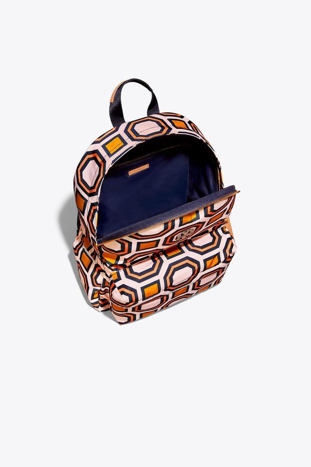 Nylon Burch Orange Backpack Tory Printed S8vEYwvqTx