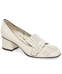 Gucci Loafers Marmont Mid Heel Gg Mystic white Pumps