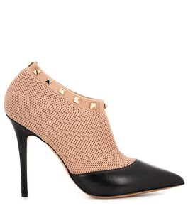 Valentino Sandals Rockstuds Stud Chanel Beige and Black Boots
