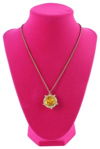 Chanel 08P Amber Pendant Necklace 23cz0629