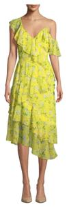 Alice + Olivia Floral Boho Silk Summer Dress