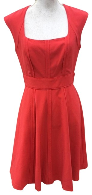 Item - Coral Teaberry Mid-length Cocktail Dress Size 6 (S)