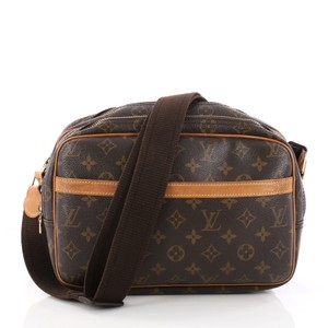 Louis Vuitton Reporter Canvas brown Messenger Bag