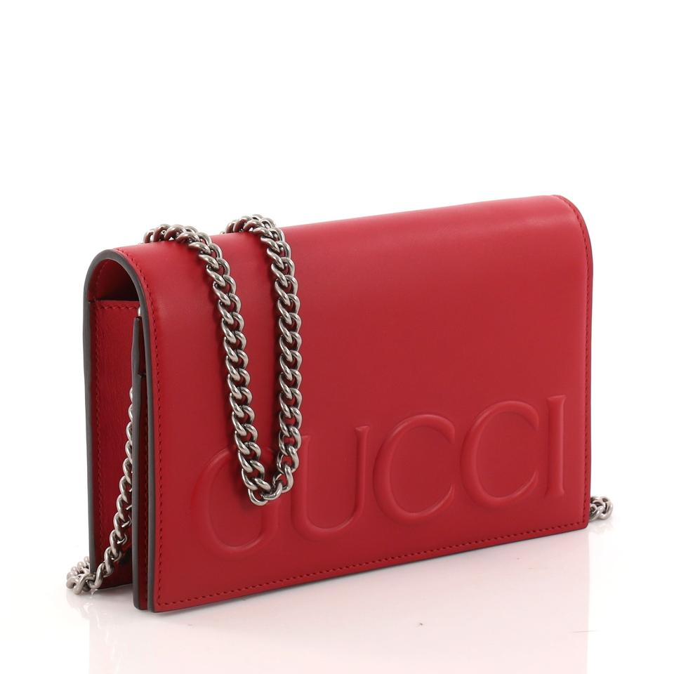 02b8d50e Gucci Xl Chain Mini Red Leather Shoulder Bag 26% off retail