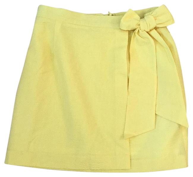 Item - Yellow Faux Wrap Skirt Size 12 (L, 32, 33)