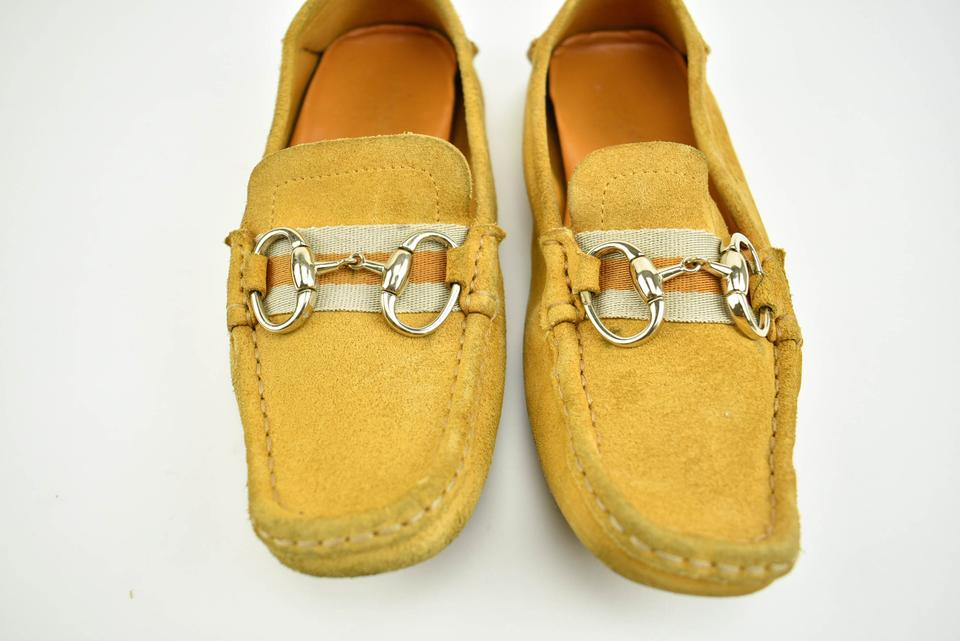 21913deba Gucci Loafers Logo Golden Yellow Leather & Flats Image 10. 1234567891011