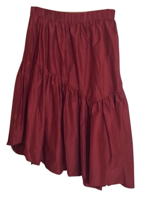 Anthropologie Red Skirt Size 8 (M, 29, 30) Anthropologie Red Skirt Size 8 (M, 29, 30) Image 1