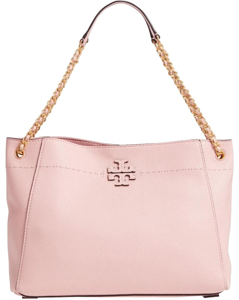 55534db72cb Tory Burch Mcgraw Slouchy Pink Leather Shoulder Bag - Tradesy