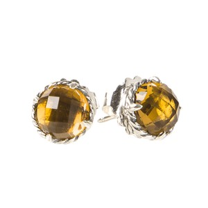 David Yurman Claine Earrings With Citrine 10mm 395 Nwot