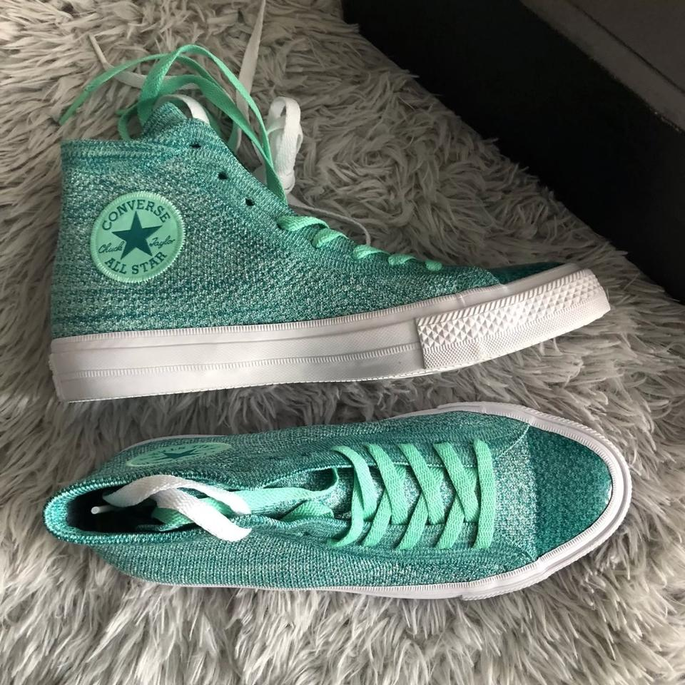 7b8a2204433a3 Converse Green Unisex Chuck Taylor All Star X Nike Flyknit Hi-top Sneakers  Sneakers Size US 9 Regular (M