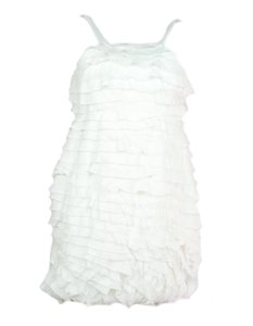 Fendi short dress cream Mini Ruffle on Tradesy