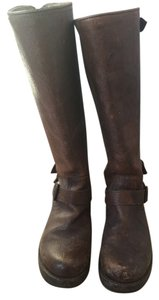 Frye Veronica Boot Tall Leather Cognac Boots