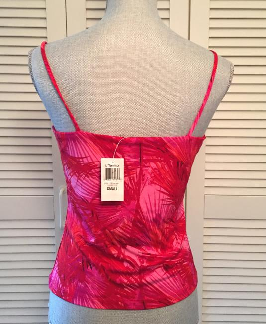 INC International Concepts Palm Leaves Coral Top Red Pink Image 2