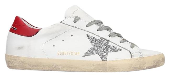 Item - White & Red Superstar Back Low-top Sneakers Size EU 40 (Approx. US 10) Regular (M, B)