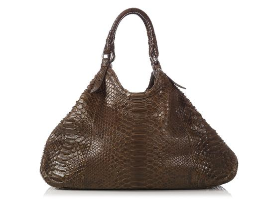 Preload https://img-static.tradesy.com/item/23612319/cole-haan-genevieve-triangle-olive-green-python-skin-leather-tote-0-0-540-540.jpg