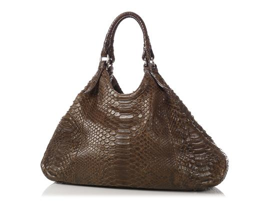 Cole Haan Brown Snakeskin Hobo Triangle Hn.ep0525.09 Tote in Olive Green Image 1