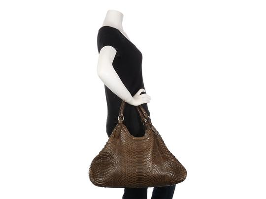 Cole Haan Brown Snakeskin Hobo Triangle Hn.ep0525.09 Tote in Olive Green Image 10