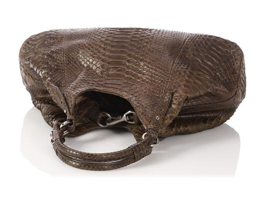 Cole Haan Brown Snakeskin Hobo Triangle Hn.ep0525.09 Tote in Olive Green Image 6