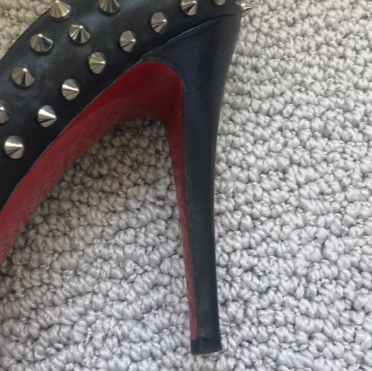 Christian Louboutin black with spikes Platforms Image 4
