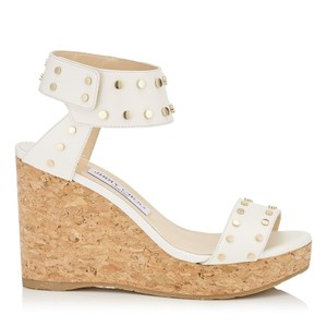 Jimmy Choo Wedges Summer Studded White Sandals