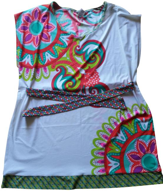 Item - Multicolor (Nwt) Carnival Tunic Cover-up/Sarong Size 2 (XS)