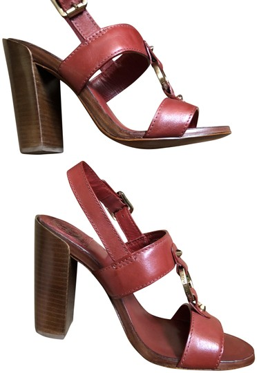 Tory Burch Rust Color Leather New New-REDUCED** WERE 289.00--Rust Red Sandals Image 1