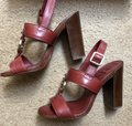 Tory Burch Rust Color Leather New New-REDUCED** WERE 289.00--Rust Red Sandals Image 10