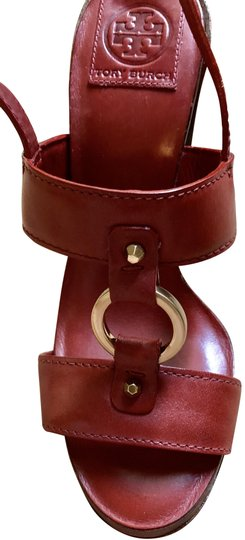 Tory Burch Rust Color Leather New New-REDUCED** WERE 289.00--Rust Red Sandals Image 2