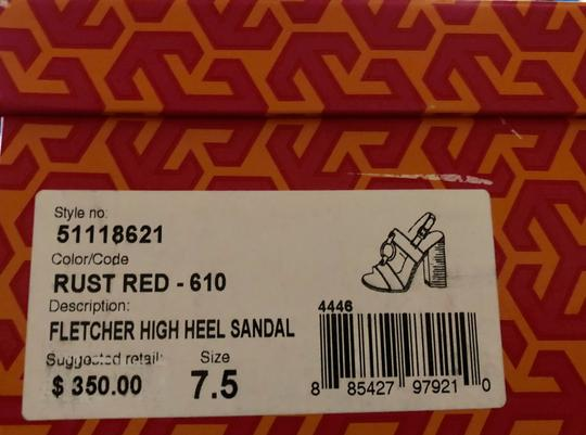 Tory Burch Rust Color Leather New New-REDUCED** WERE 289.00--Rust Red Sandals Image 3