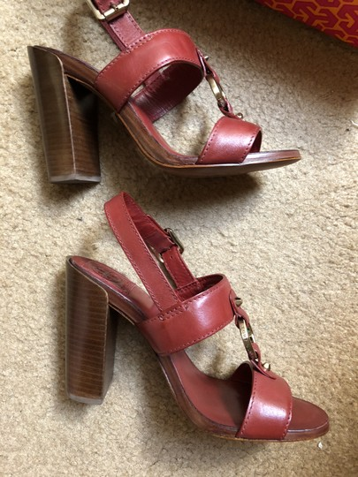 Tory Burch Rust Color Leather New New-REDUCED** WERE 289.00--Rust Red Sandals Image 4