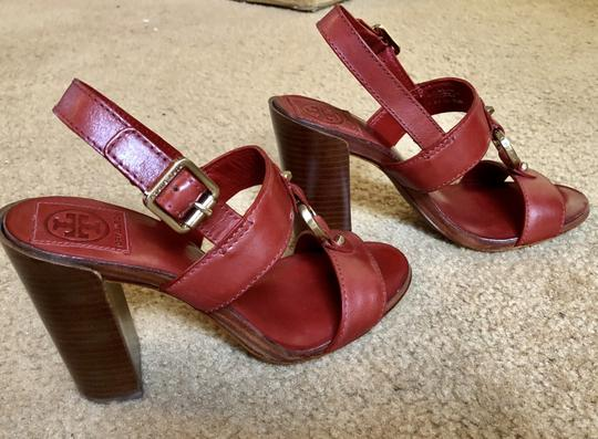 Tory Burch Rust Color Leather New New-REDUCED** WERE 289.00--Rust Red Sandals Image 6