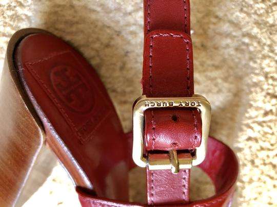 Tory Burch Rust Color Leather New New-REDUCED** WERE 289.00--Rust Red Sandals Image 7