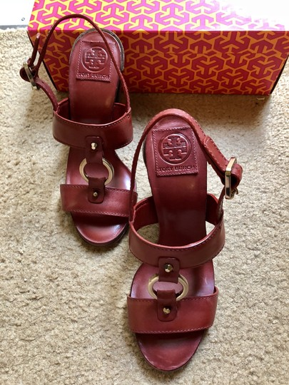 Tory Burch Rust Color Leather New New-REDUCED** WERE 289.00--Rust Red Sandals Image 8
