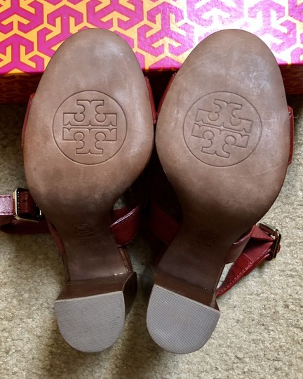 Tory Burch Rust Color Leather New New-REDUCED** WERE 289.00--Rust Red Sandals Image 9