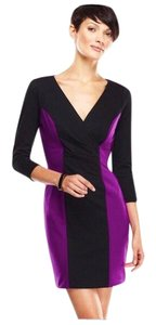 Casual Couture short dress Purple, Black on Tradesy
