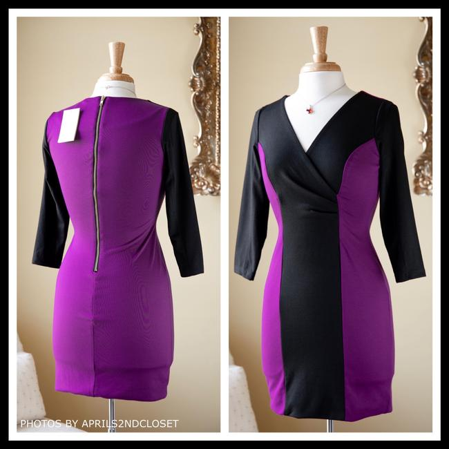 Casual Couture short dress Purple, Black on Tradesy Image 1