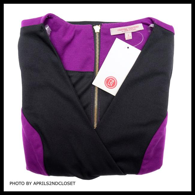 Casual Couture short dress Purple, Black on Tradesy Image 2