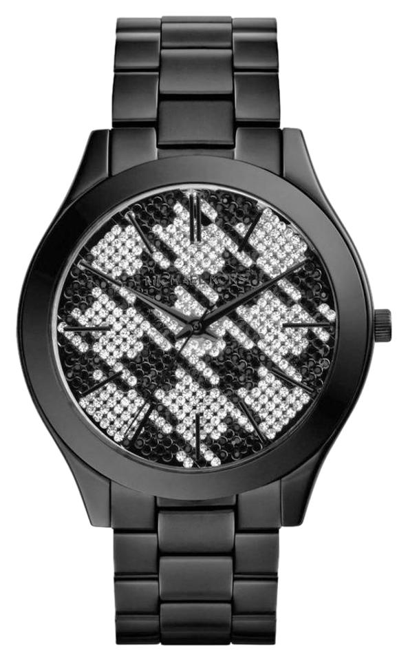 668812cd67bf Michael Kors Black Clearance-sale Runway Houndstooth Dial Ion-plated Mk3326  Watch