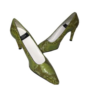 Charles Jourdan Patent Leather Animal Print Vintage Green x Brown Pumps