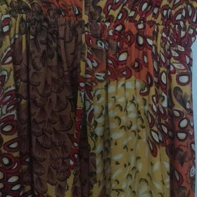 Unaluna short dress brown, orange, yellow, red on Tradesy Image 3