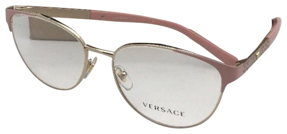 27a254d5215 Eye 1385 140 Pink New 1238 W Cat Gold Versace 16 amp  Frame Medusa 54 qvAEfa