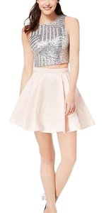 B. Darlin short dress silver and baby pink on Tradesy