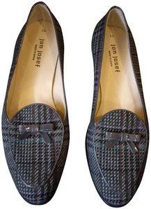 Jon Josef Bow Patent Leather Plaid Flats