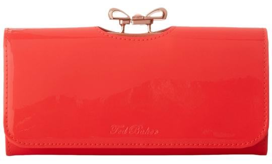Ted Baker NEW!!! Tags Hot Pink Crystal Bow Patent Leather Wallet Bag NWT